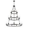 This item: Ballston Matte Black 40-Inch 18-Light LED Chandelier