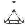 This item: Ballston Matte Black Six-Light LED Chandelier