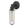 This item: Austere Oil Rubbed Bronze Five-Inch One-Light Wall Sconce with Muselet Oil Rubbed Bronze Metal Shade