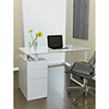 This item: White Tribeca Writing Desk with Drawers