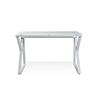 This item: White Desk with Pure White Glass Top