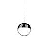 This item: Black Chrome One Light LED Pendant