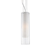 This item: Chrome 19-Inch One-Light Pendant with White and Clear Glass