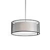 This item: Brushed Nickel 15-Inch Two-Light Pendant