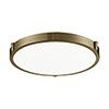 This item: Vintage Brass 17-Inch One-Light Flush Mount