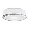 This item: Brushed Nickel 11-Inch Two-Light Flush Mount with White Opal Glass