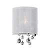 This item: Chrome Eight-Inch One-Light Wall Sconce with White Shade