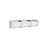 This item: Chrome 25-Inch One Light LED Bath Vanity with Frosted Glass