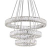 This item: Chrome 120-Inch LED Three-Tier Chandelier