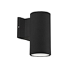 This item: Black Seven-Inch One-Light Wall Sconce with Tempered Glass