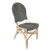 This item: French Bistro Black and White Rattan Dining Chair
