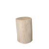 This item: Whitewash and Natural Tree Stump 19-Inch Side Table