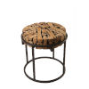 This item: Safari Black and Natural 22-Inch End Table