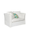 This item: Sunset Beach Canvas White Chair and A Half