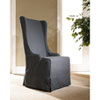 This item: Atlantic Beach Charcoal Linen Wing Dining Chair