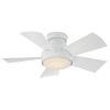 This item: Vox Matte White 38-Inch 3000K LED Flush Mount Ceiling Fans