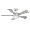 This item: Wynd Stainless Steel 42-Inch 2700K LED Downrod Ceiling Fans