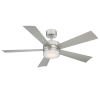 This item: Wynd Stainless Steel 52-Inch 2700K LED Downrod Ceiling Fans