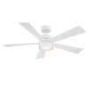 This item: Wynd Matte White 52-Inch 3000K LED Downrod Ceiling Fans