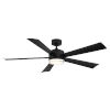 This item: Wynd Matte Black 60-Inch ADA LED Ceiling Fan, 2700K