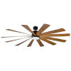 This item: Windflower Matte Black 80-Inch 2700K LED Downrod Ceiling Fans