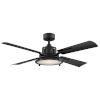 This item: Nautilus Matte Black 56-Inch ADA LED Ceiling Fan