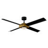 This item: Paradox Aged Brass 56-Inch 2700K LED Downrod Ceiling Fans