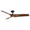 This item: Zephyr Matte Black and Distressed Koa 62-Inch ADA LED Ceiling Fan