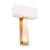 This item: Diplomat Aged Brass Two-Light LED ADA Wall Sconce