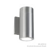 This item: Vessel Brushed Aluminum 4-Inch 4000K Two-Light ADA Outdoor Wall Light