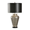 This item: Black and Gray One-Light 11-Inch Carved Circles Lamp