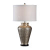 This item: Silver One-Light 11-Inch Carved Circles Lamp