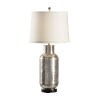This item: Off White and Silver One-Light 11-Inch Carved Bottle Lamp