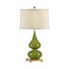 This item: Light Taupe and Green One-Light 10-Inch Whitney Lamp