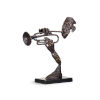 This item: Gray 18-Inch Contemporary Trumpeter