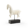 This item: White and Black 14-Inch Running Horse