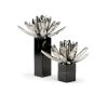 This item: Black and White 11-Inch Water Lilies, Set of 2