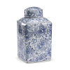 This item: White and Blue 8-Inch Paisley Canister