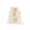 This item: White 14-Inch Hampton Boxes, Set of 3