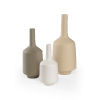 This item: White and Gray 8-Inch Madsen Vases, Set of 3