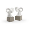 This item: White 7-Inch Rameses Bookends Pair