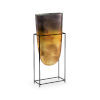 This item: Black and Gold 10-Inch Arvada Vase