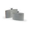 This item: Gray 18-Inch Golden Edge Vases , Set of 2