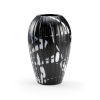 This item: Black and White 9-Inch Midnight Oil Vase