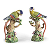 This item: Multi-colored Parrot and Fruit Tree Figurines