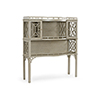 This item: Bradshaw Orrell Gray Fretted Cabinet