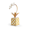 This item: Bradshaw Orrell Gold Square Flower Accent