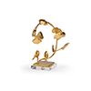 This item: Gold Lotus and Bird Accent