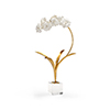 This item: Gold and White Small Orchid on Stand
