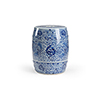 This item: Blue and White Zue Garden Seat